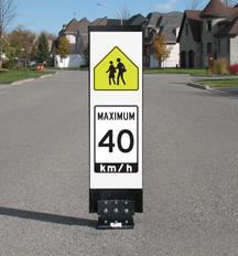 Traffic calming sign - WC-1 School Zone area Maximum 40