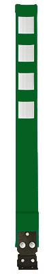 Cyclo-Zone flexible bollard - green