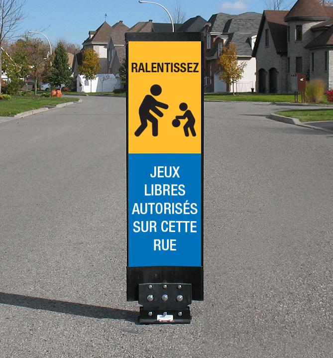 La balise Ped-Zone zone de jeu libre permet de délimiter les zones où le jeu libre est permis